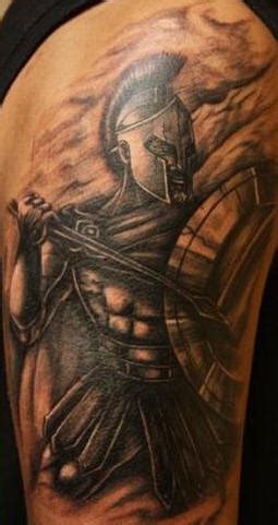 spartan warrior with spear black tattoo tattooimages biz