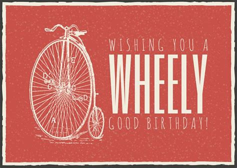 bicycle birthday card template card templates canva
