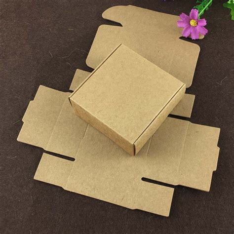 Craft Paper Gift Boxes - 100pcs 6 5 6 5 3cm kraft gift box paper packing box blank