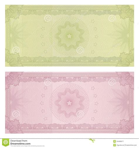 money design template gift certificate voucher template guilloche stock