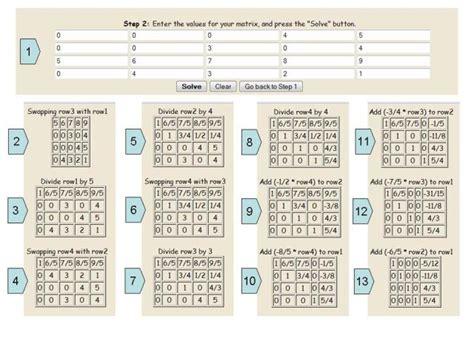calculator gauss jordan lesson gauss jordan elimination method for solving linear