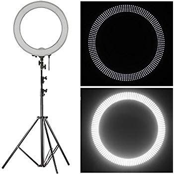 neewer ring light review amazon com neewer 18 quot led ring light dimmable for