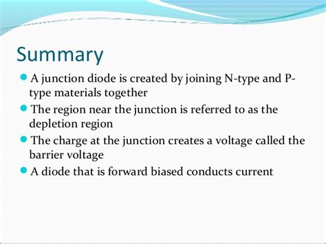 a diode conducts current when forward biased pn junction diodes