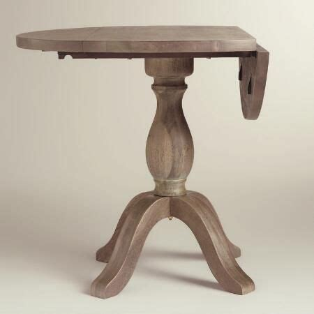 small dining table with leaf weathered gray jozy drop leaf dining table world market