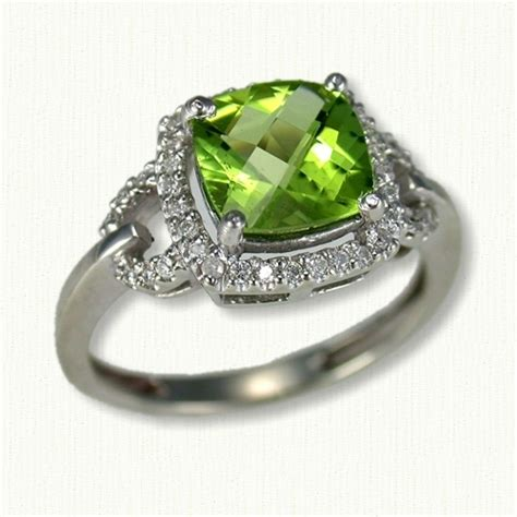 unique peridot wedding rings the wedding specialists