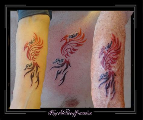 family tattoo phoenix kim s tattoo paradise