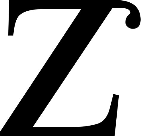 Letter Z file small letter z with tophook svg wikimedia commons