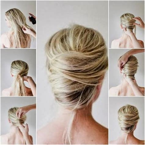 how to create a sculpturedweave hair style wonderful diy messy french twist hairstyle