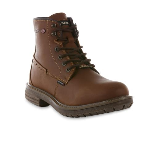 swissbrand s janson brown leather casual boot