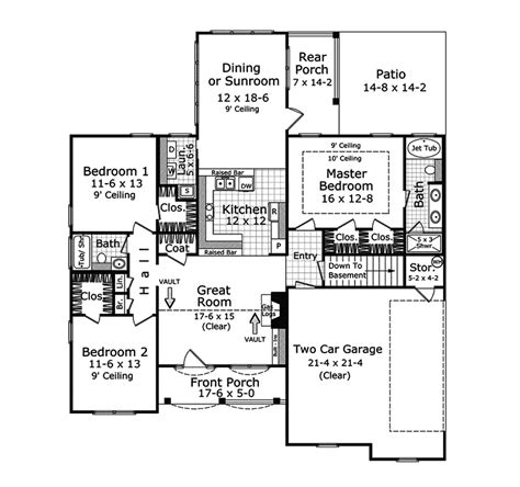 cheerful ranch house plan 22070sl 1st floor master suite cad available corner lot pdf duch ranch home plan 077d 0073 house plans and more