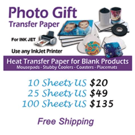 Letter Transfer Paper Photo Gift Transfer Paper Us Letter Picture Products Heat Transfer Sublimation