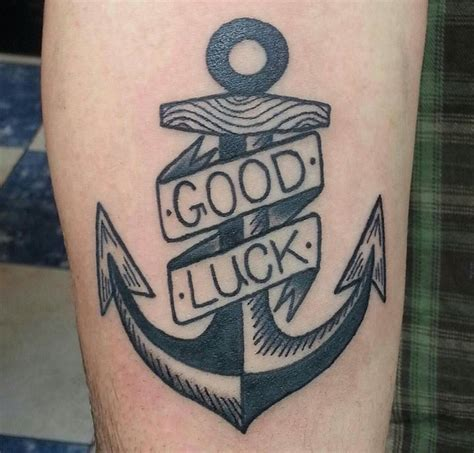 good luck tattoo luck anchor by bryony alys tattoos