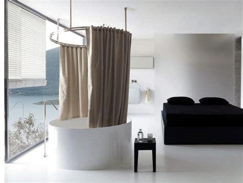 tende per doccia in lino lino trattato e un sistema originale per la tenda vasca