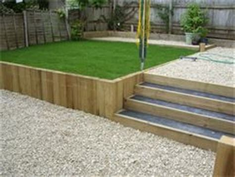 Railway Sleepers Wiltshire by Sleeper Retaining Wall Retaining Walls And Lawn On