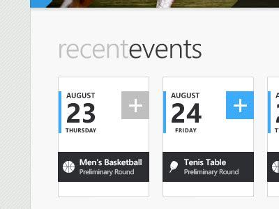 event ui design recent events user interface ui ux and ui design
