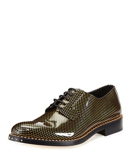 gold oxford shoes jimmy choo alaric s polka dot patent oxford shoe