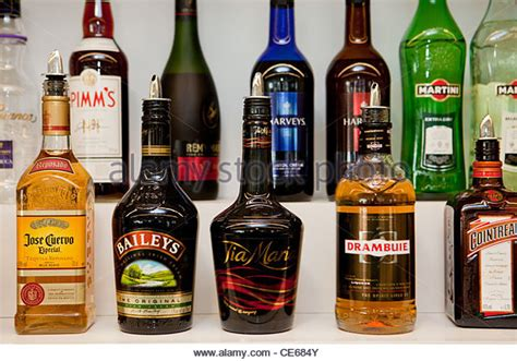 alcoholic drinks bottles bottles of uk stock photos bottles of uk