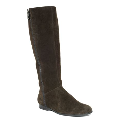 enzo boots enzo angiolini zemi boots in brown choc suede lyst