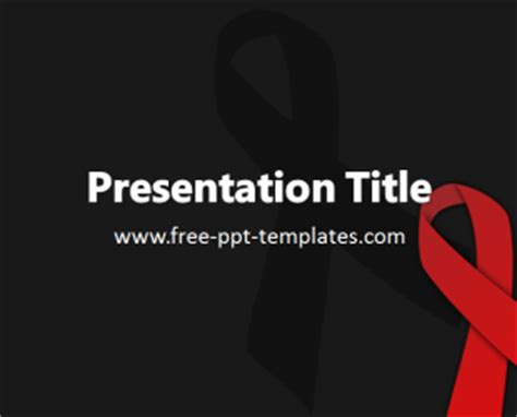 powerpoint templates free hiv aids ppt template free powerpoint templates