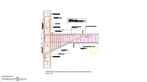 Stairs Design by Reinforced Concrete Beam Column Haunch Connection Detail Youtube