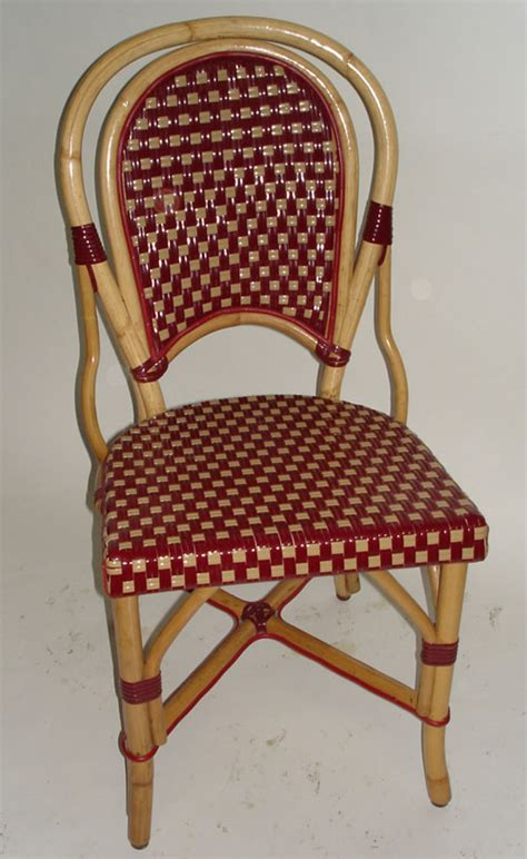 Rattan Bistro Chairs Cafe Bistro Rattan Chairs Parisian Chairs