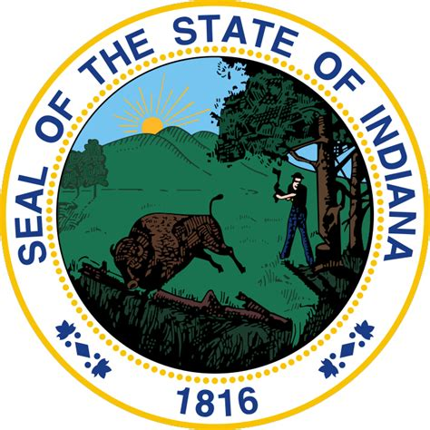 state pictures seal of indiana state symbols usa