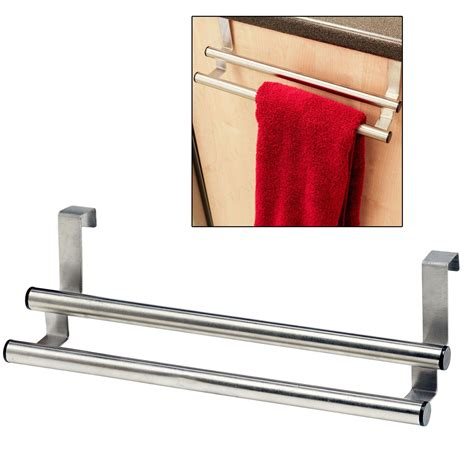 Cabinet Door Towel Rack Tea Towel Bar The Door Metal Kitchen Bathroom Cabinet Drawer Storage Holder Ebay