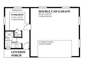 Garage Workshop Floor Plans by 2 Car Garage Plans Two Car Garage Plan With Workshop