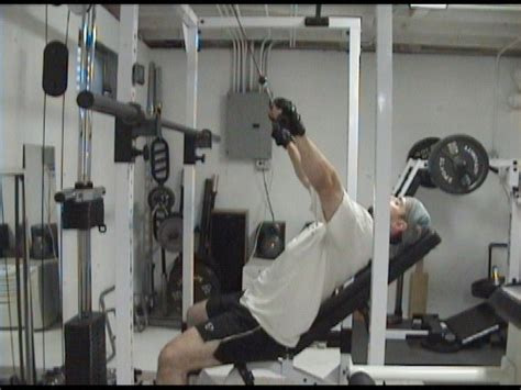 bench pull exercise incline bench pulldowns for upper back shoulders and