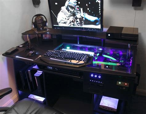 best pc gaming desk custom gaming computer desk personal space