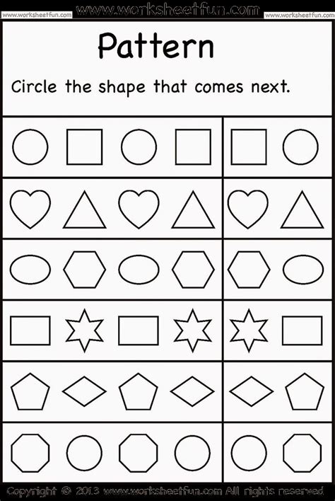worksheets for preschool kindergarten worksheets free coloring sheet