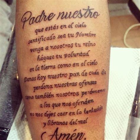 tattoo padre nuestro en latin resultado de imagen para padre nuestro tatuaje buly