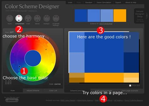 complementary colors generator color wheel harmonic colors and color theory