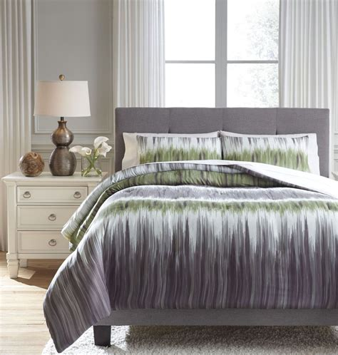 green and gray comforter agustus gray and green king comforter set q366003k ashley