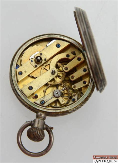 antique 19 lignes huguenin locle swiss pocket