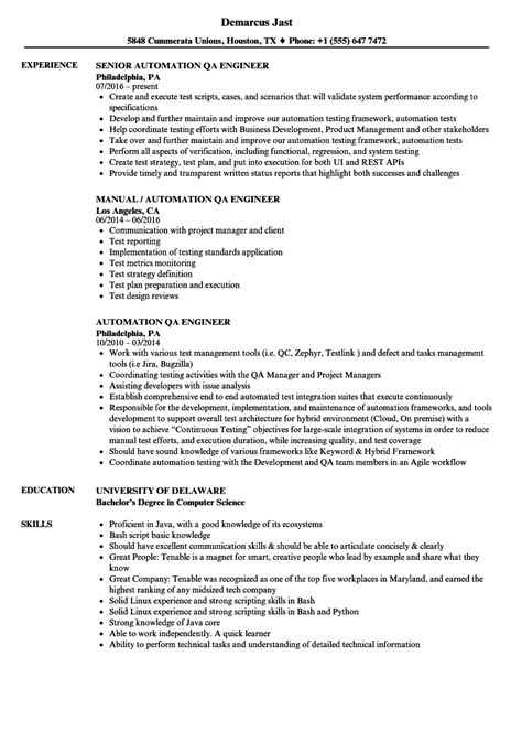 browse automotive quality engineer sample resume qa engineer resume
