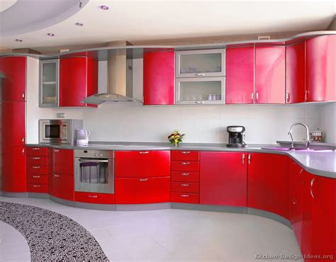kitchen design red pictures of kitchens modern red kitchen cabinets page 3