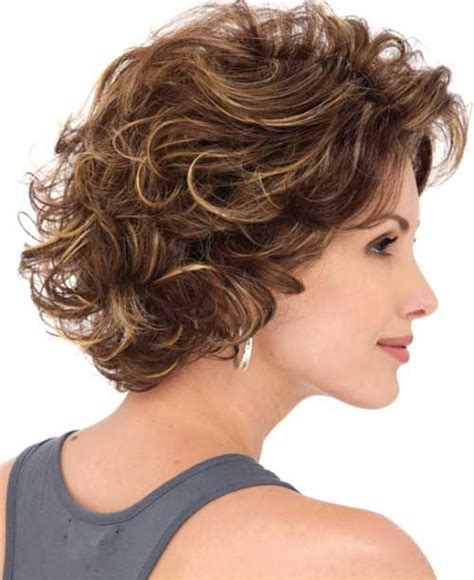 layered permed bob cuts 25 short and curly hairstyles curly hairstyles curly