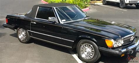 convertible mercedes black 1985 black mercedes benz 380sl convertible excellent