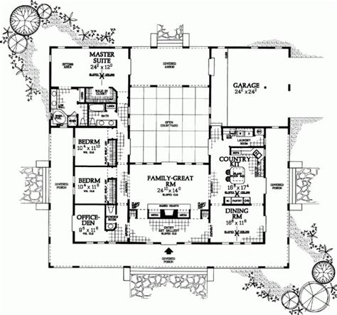 awesome u shaped home plans throughout ranch style house