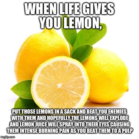 Lemon Memes - when lif gives you lemons imgflip