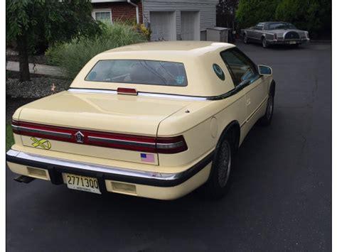 Chrysler Tc Maserati For Sale 1989 chrysler tc by maserati for sale classiccars