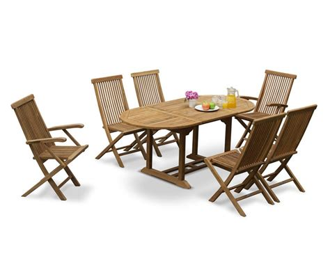 Brompton Outdoor Extending Garden Table And 6 Chairs Extending Patio Table
