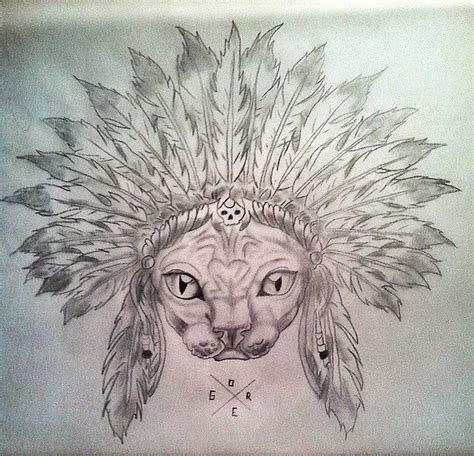 tattoo designe sphinx cat designe by artgore by valeanuandrei on