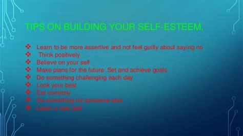 how to self your presentation self esteem