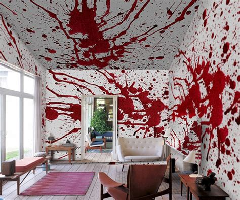 cool wall painting ideas blood bath wallpaper murals inspired by roman polanski