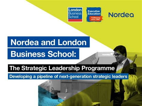 Lbs Mba India Linkedin by Nordea And Business School