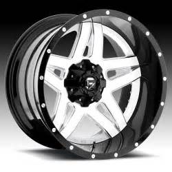 Truck Wheels White Fuel D255 Blown 2 Pc Gloss White W Milled Accents