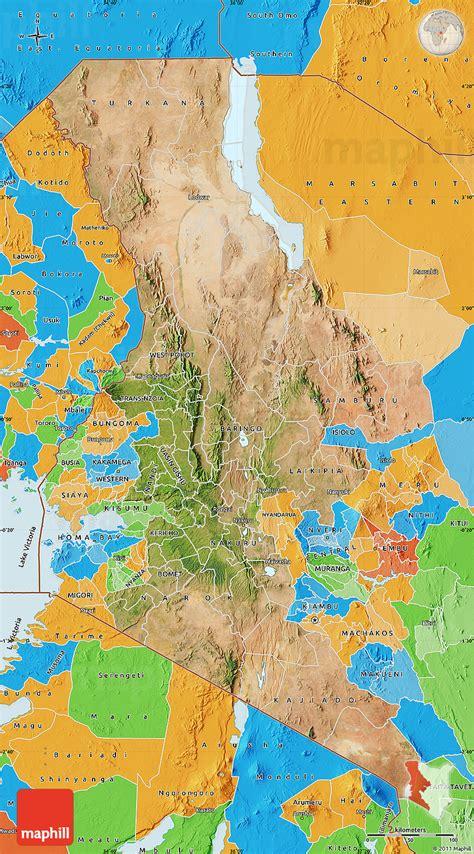 satellite map  rift valley political