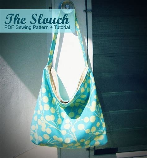sewing pattern hobo bag the slouch hobo style bag pdf sewing pattern and by alifoster